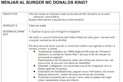 Menjar a Mc Burger Donald's King?