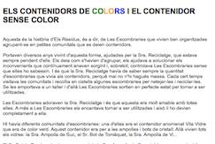 Els contenidors de colors