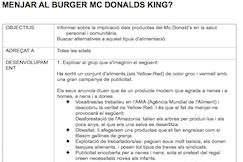 Menjar a Mc Burger Donald's King?